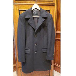 Hugo Boss Cashmere Wool BLACK Overcoat EXCELLENT